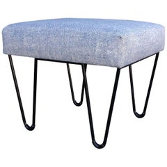 Alex Outdoor Ottoman Stainless Steel Powder Coated Upholstered Sunbrella