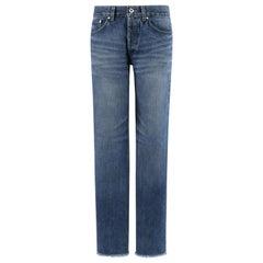 ALEXANDER McQUEEN A/W 2000 Denim Raw Hem Mid Rise Straight Leg Jeans