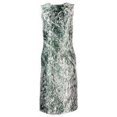 Alexander McQueen Black and White, Grey Sleeveles Open Back Midi Dress
