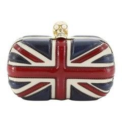 Alexander McQueen Britannia Skull Box Clutch Leather Small