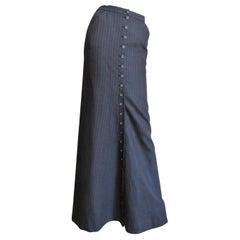 Alexander McQueen Button Front Maxi Skirt
