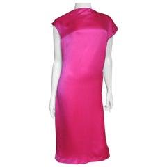 Alexander McQueen New Asymmetric Neckline Silk Dress