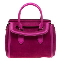 Alexander McQueen Pink Suede and Leather Heroine Tote