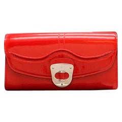Alexander McQueen Red Patent Leather Pochette