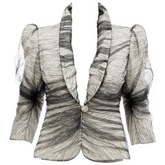 Alexander McQueen Runway Sarabande Collection Tulle Overlay Jacket, Spring 2007