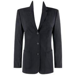 """ALEXANDER McQUEEN S/S 1996 """"Neptune"""" Black Long Sleeve Blazer Jacket"""