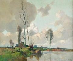 Eclaircie sur le Marais - Environs d'Amiens - Impressionist Landscape  - A Jacob