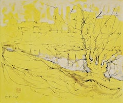 It's a New Day, Alfred Freddy Krupa, Ink Art, Oil Painting, Landscape, Yellow