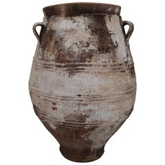 Amazing Large Greek Patinated Terracotta Jar from the Early 20th Century