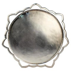 American Modernist Handwrought Sterling Silver Tray by Henry Petzal, 1970s