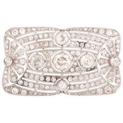 Art Deco Diamond Brooch, circa 1920