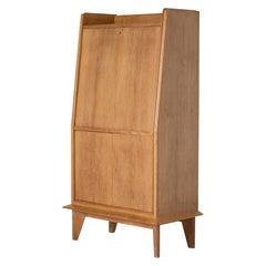 Art Deco Oak Secrétaire Cabinet