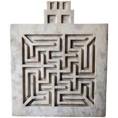 Early 20th Century Labyrinthine Marble Panel