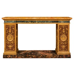 Italian 19th Century Neoclassical Style Painted and Giltwood Console