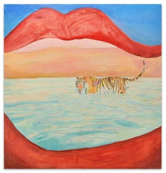 Mouth - Oil on Canvas by Anastasia Kurakina - 2000s