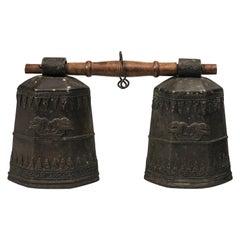Ancient Tibetan Bronze Bells, 19th Century