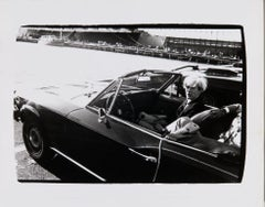 Andy Warhol in Convertible circa 1985