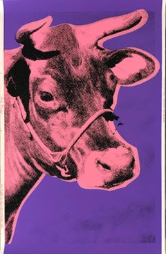 Andy Warhol, Cow; 1976; Screenprint on wallpaper; 45 1/2 x 29 3/4 inches