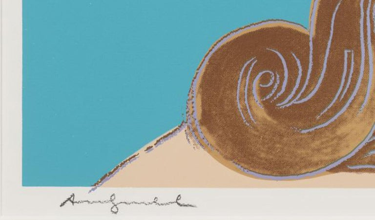 Details of Renaissance paintings (Sandro Botticelli, Birth of Venus, 1482) - Brown Portrait Print by Andy Warhol