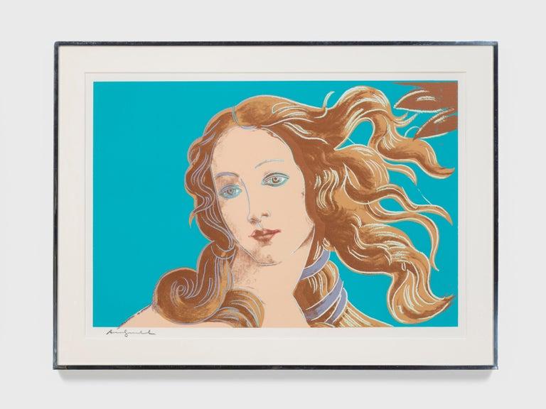 Andy Warhol Portrait Print - Details of Renaissance paintings (Sandro Botticelli, Birth of Venus, 1482)