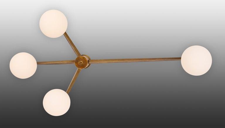 Mid-Century Modern Angelo Lelii for Arredoluce Stella Ceiling Light / Chandelier, circa 1960 For Sale
