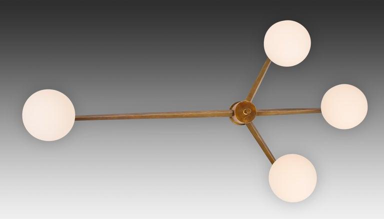 Italian Angelo Lelii for Arredoluce Stella Ceiling Light / Chandelier, circa 1960 For Sale