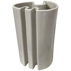 Angelo Mangiarotti White Ceramic Vase, 1960s