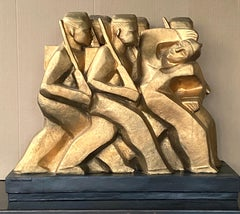 American Scene Modern Sculpture WPA Military Mid-Century Modernism Female Artist