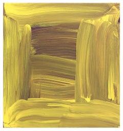 Anne Russinof, Silk, 2015, Oil on canvas, 15 x 14 x 2 inches, Minimalist