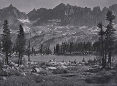 Kaweah Peaks from Little Five Lakes, a Photograph by Ansel Adams
