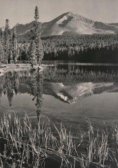 Mount Kaweah, Moraine Lake, a Photograph by Ansel Adams
