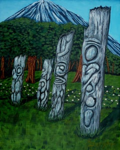 Ancient Totem, Painting, Acrylic on Canvas