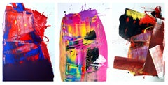 Two Out of Three Ain't Bad Painting (Triptych), Anthony Hunter, Gloss on Canvas