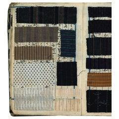 Antique 19th century Japanese Kimono Textile Fabric Sample Book