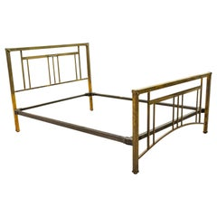 Antique Bed Frame, English, Brass, Iron, Double Bedstead, Victorian, circa 1880