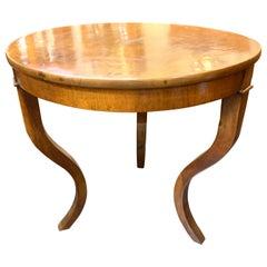 Antique Biedermeier Walnut Table