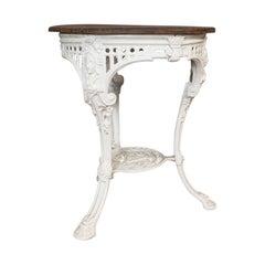 Antique Britannia Table, English, Cast Iron, Cedar, Garden, Outdoor, Victorian