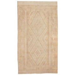 Antique Cotton Dhurrie Indian Rug