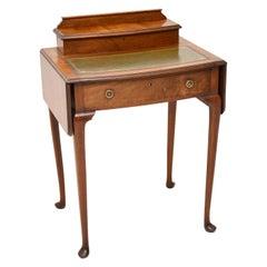 Antique Edwardian Mahogany and Leather Writing Table