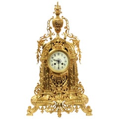 Antique French Gilt Bronze Baroque Clock