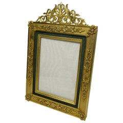 Antique French Gilt Bronze Ormolu Portrait Photo Picture Frame, 19th Century