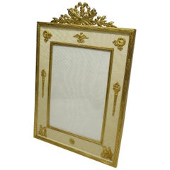 Antique French Ormolu Portrait Photo Picture Frame, 19th Century