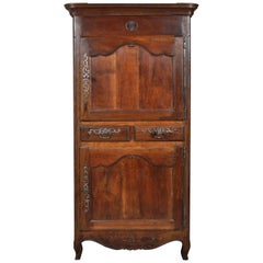 Antique French Provincial Louis XV Fruitwood Bonnetiere / Armoire / Cabinet