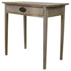 Antique Gustavian Style Bleached Mahogany Side Table, circa 1800