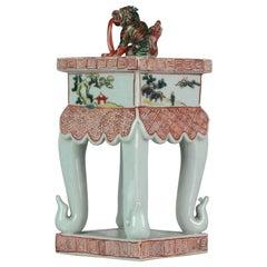 Antique Japan Edo Meiji Period Kutani Japanese Porcelain Koro Lion