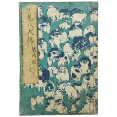 Antique Japanese History Book Meji Era, circa 1878