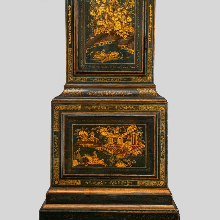 George III Lacquered Longcase Clock by John Monkhouse, London For Sale 1