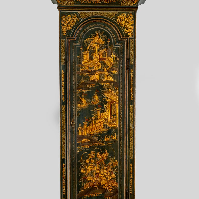George III Lacquered Longcase Clock by John Monkhouse, London For Sale 2