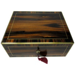 Antique Lady's Gentleman's Coromandel Jewelry Documents Box atrib Edwards London