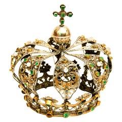 Antique Neapolitan Crown, Handmade in Italy, 18th Century